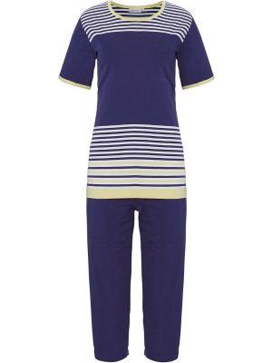 Dames pyjama blauw Pastunette