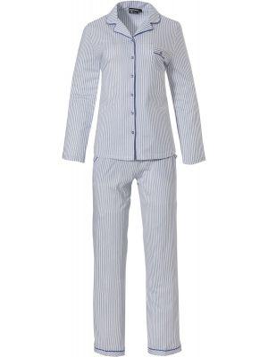 Gestreepte doorknoop dames pyjama
