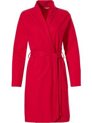 Rode katoenen zomer badjas