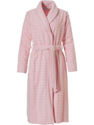 Dames overslag badjas roze