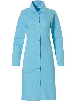 Dames doorknoop badjas turquoise