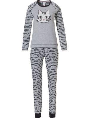 Grijze dames pyjama kat