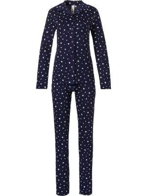 Dames doorknoop pyjama ster