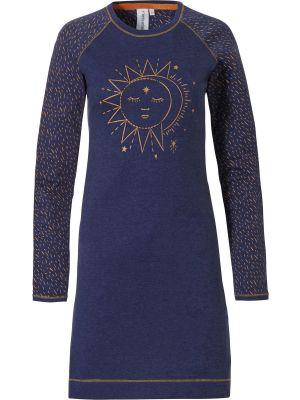 Blauw dames nachthemd moonlight