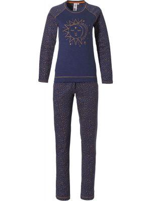 Blauwe dames pyjama moonlight