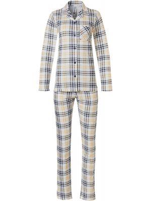 Dames doorknoop pyjama viscose