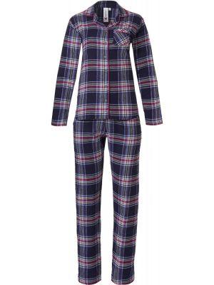 Warme doorknoop dames pyjama flanel