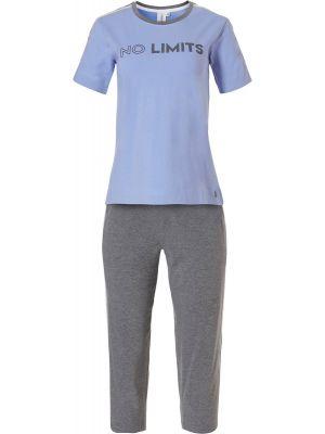 Sportieve dames pyjama blauw