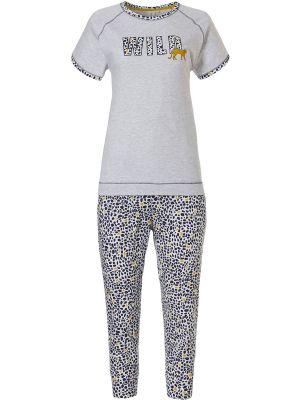 Dames pyjama met jachtluipaardprint