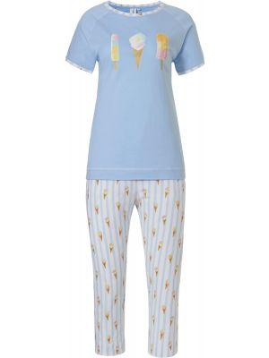 Blauwe dames pyjama ijsjes