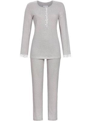Grijze Ringella pyjama stippenmotief