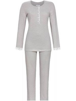 Grijze Ringella pyjama 7/8 broek