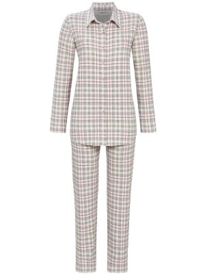 Geruit doorknoop pyjama Ringella