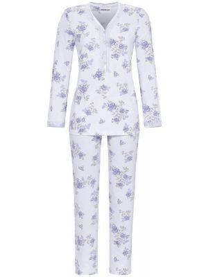 Klassieke blauwe bloemen pyjama Ringella
