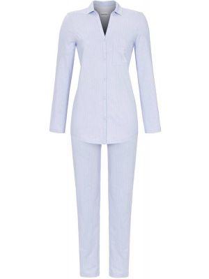 Licht blauwe doorknoop pyjama