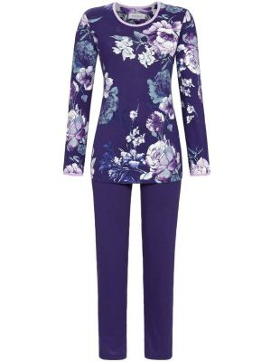 Ultramarijn bloemen pyjama