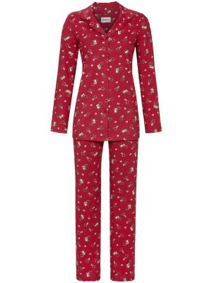 Doorknoop kerst pyjama rood