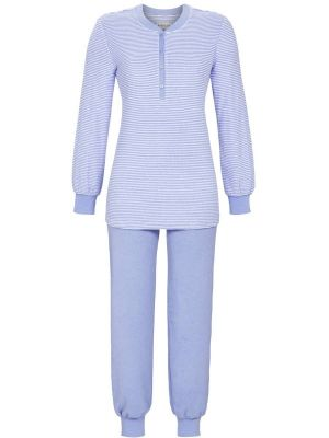 Blauwe badstof pyjama Ringella