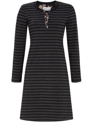 Zwart nachthemd strepen Ringella