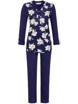 Blauwe bloemen pyjama Ringella