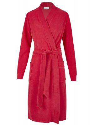 Rode dames badjas lange mouwen