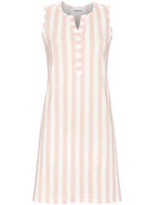 Mouwloos nachthemd roze strepen
