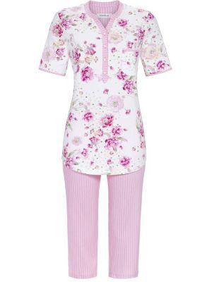 Roze Ringella pyjama met bloemen