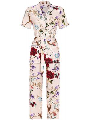 Doorknoop pyjama bloemen en vogels