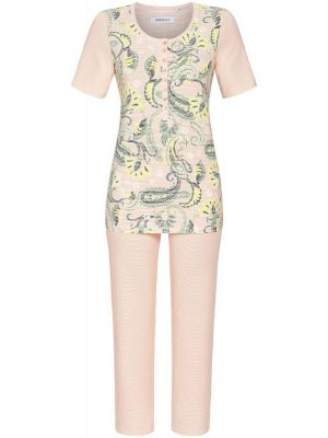 Ringella pyjama abrikoos roze
