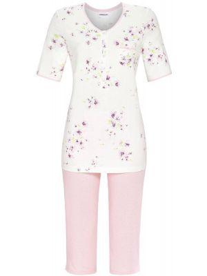 Klassieke pyjama roze bloemen