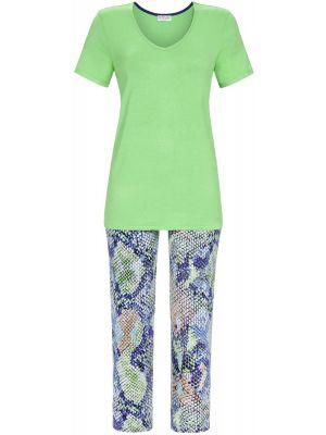 Groene pyjama met slangenprint