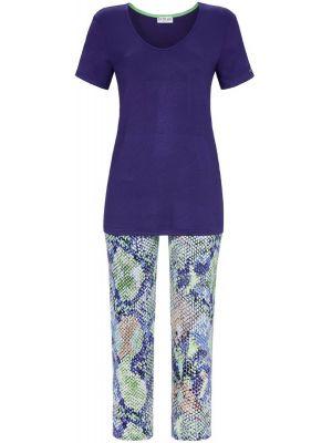 Blauwe pyjama met slangenprint
