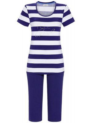Donker blauw gestreepte pyjama