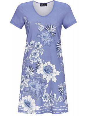 Blauw Bloomy nachthemd