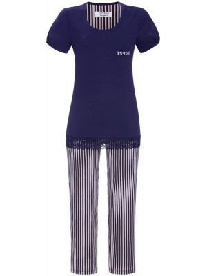 Blauwe Ringella pyjama strepen