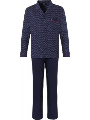 Doorknoop Robson pyjama blauw