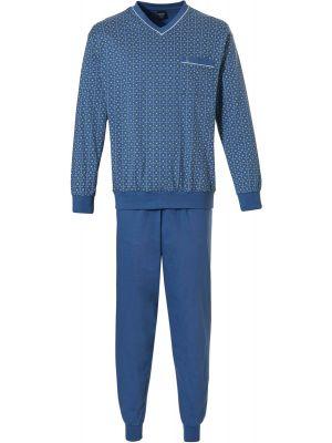 Robson heren pyjama blauw