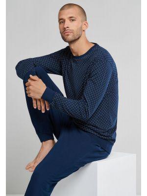 Schiesser herenpyjama blauw