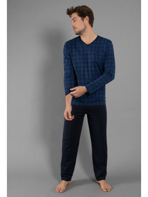 Blauwe herenpyjama Tom Tailor