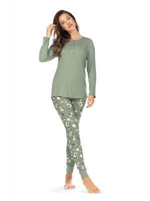 Groene bloemen pyjama Ascafa