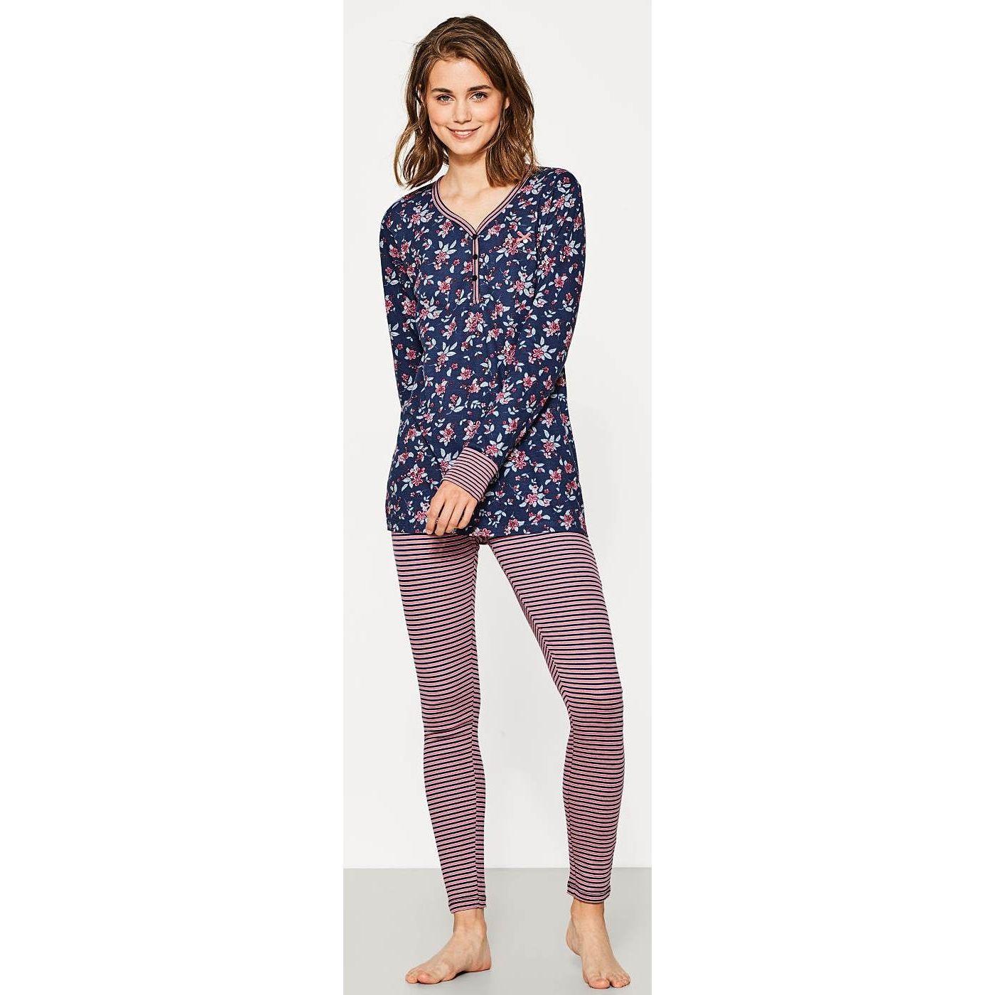 Dames pyjama van Esprit roze blauw | Bestel eenvoudig online